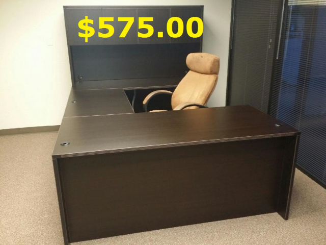"66""x95"" Straight Front U Shape Desk Unit (no drawers)"