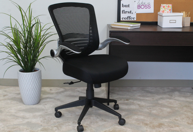 Boss Ergonomic Mesh Task Chair-Mid Back