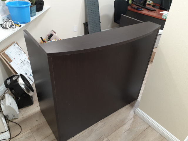 "48""x26"" Reception Front Desk Shell With Rounded Top (no drawers)"