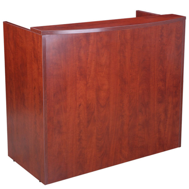 "48""Lx26""Dx41""H Reception Desk With Rounded Transaction Top"