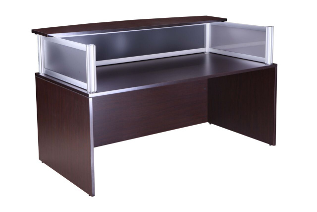 "72""x36"" Plexy Glass Reception Front Desk Shell (no drawers)"