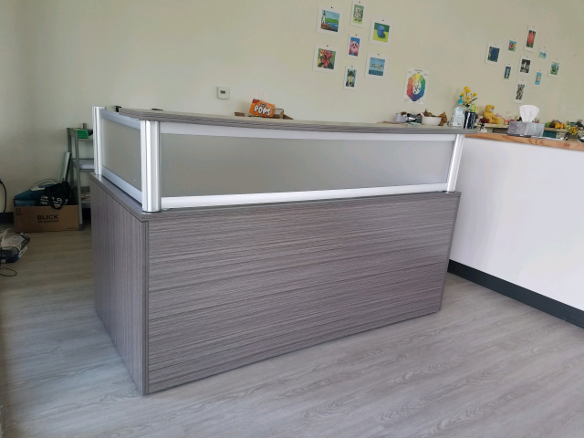 "72""x36"" Reception Desk Front Only (No Drawers)"
