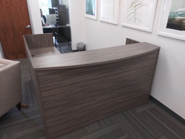 "72""x72"" Rounded Top Reception Desk"