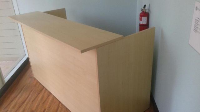 "72""x30"" Reception Desk Shell With Rectangular Transaction Top (no drawers)"