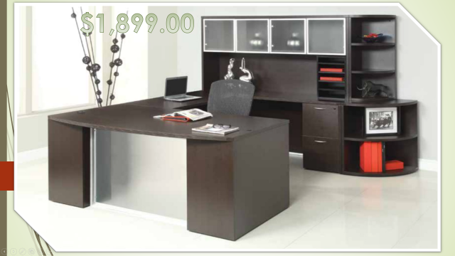 DISCOUNTED!!  Step Front U Shape Desk (customize it pay only for what you need eliminate rest)