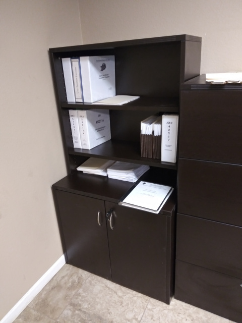 "36""Lx65""H Lateral File & Open Hutch Combo"