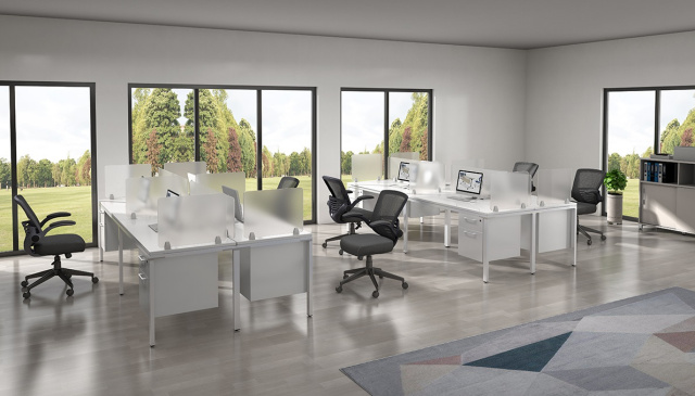 "60""x24"" x4 Straight Workstations With Hanging File Units / NOTE: Price is per setup, 2 shown in pict"