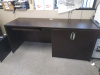"72""x24"" Credenza Shell With Storage Unit & Keyboard Tray"