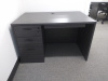 "48""x30"" Straight Desk With 3 Drawer FIle & Keyboard Tray"