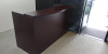 "72""x30"" Reception Desk Shell With Rounded Transaction Top (no drawers)"