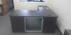 "66""x78"" Tuxedo Series L Desk with 2 Drawer File Unit & Glass Modesty"