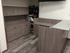 "72""x72"" Reception L Shape With Glass Transaction Top & 3 Drawer File Unit"