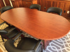 "95""x42"" Race Track Conference Table"