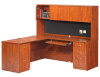 "66""x66"" L Shape Desk With 2 Drawer File Units Keyboard Tray & Hutch"