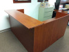 "72""x72"" Reception Desk Shell With Rectangular Transaction Top (no drawers)"