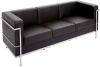 Black & Chrome 3 Seater Couch